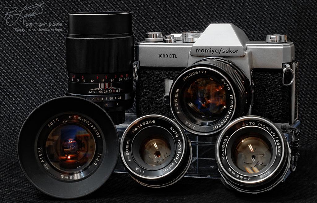 Mamiya 1000 DTL and Lenses