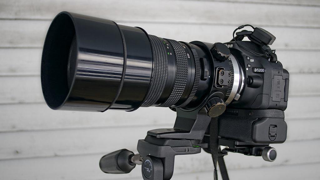 Adapted Bronica 100-220mm f/4.8 PE Aspherical IF on a Nikon D5200 [ Konica AR 50mm f/1.7 @ f/11 ]