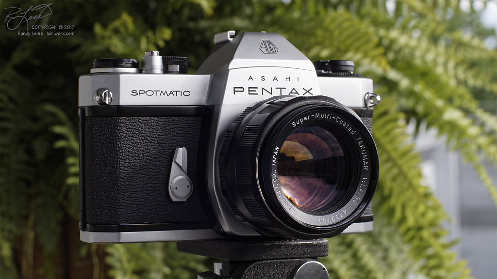 Spotmatic SPII, w/ Pentax Super-Multi-Coated Takumar 50mm f/1.4