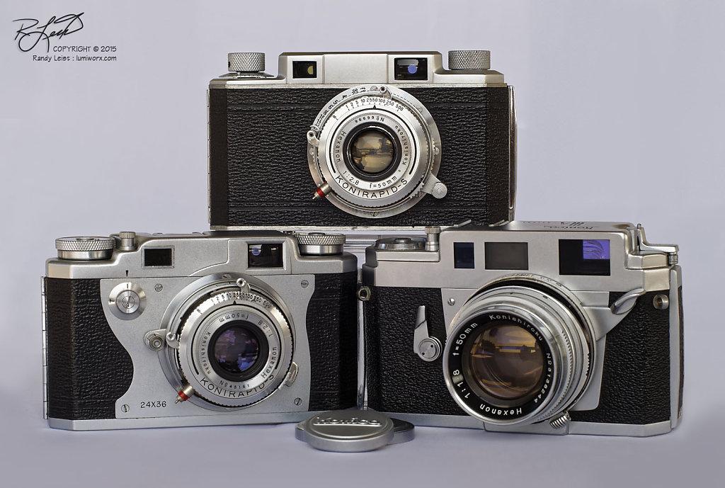 Konica I/IIb/IIIa Rangefinder Trio