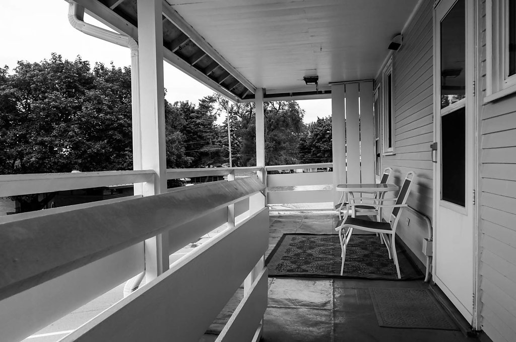 Black and White Porch