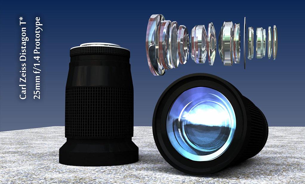 Zeiss Distagon T* 25mm f/1.4 Prototype