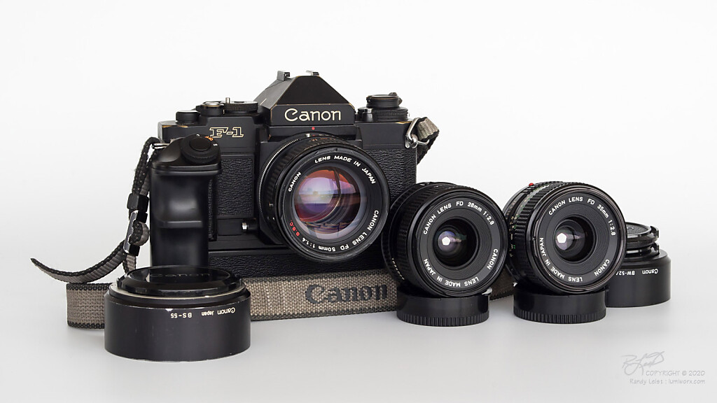 Photojournalist's Toolkit - Canon New F1, w/ AE Finder and AE Winder