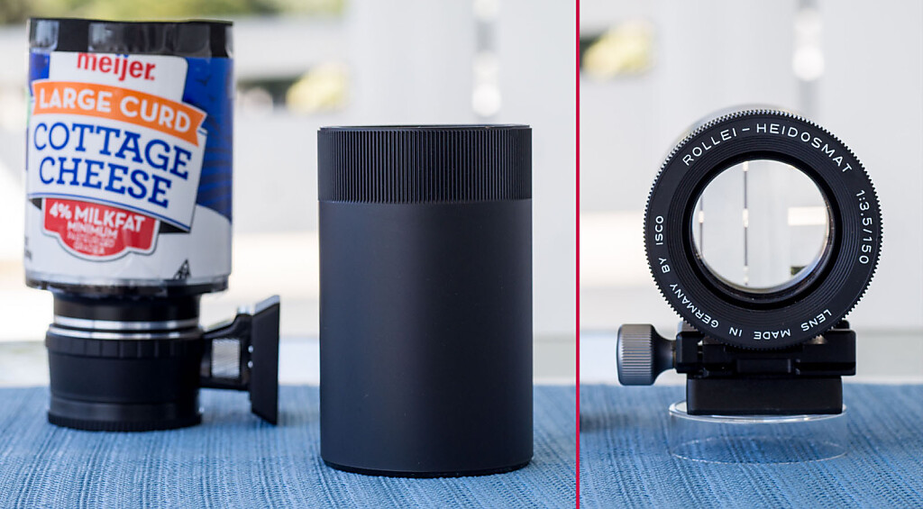Adapting a Rolliei Heidosmat 150mm f/3.5 Projector lens